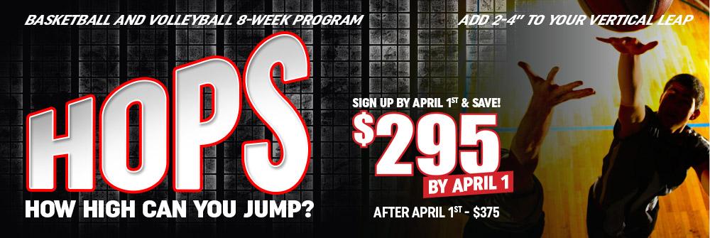 HOPS – 8-Week Vertical Program (Basketball/Volleyball